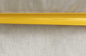 Long 23″ yellow shoe horn–NEVER used